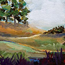 Rolling Hills by Karen  Hale (Acrylic Painting)