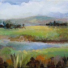 Creekside by Karen  Hale (Acrylic Painting)