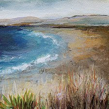 Beach View by Karen  Hale (Acrylic Painting)