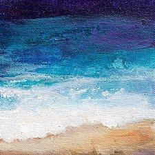 On The Beach by Karen  Hale (Acrylic Painting)