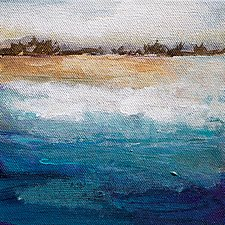 Sea View II by Karen  Hale (Acrylic Painting)