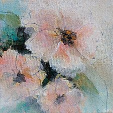 Soft Floral 2 by Karen  Hale (Acrylic Painting)