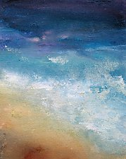 Sand and Sea by Karen  Hale (Acrylic Painting)