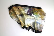 Lost and Found I by Karen  Hale (Painted Wall Sculpture)