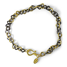 Trillion Link Bracelet by Rona Fisher (Gold & Silver Bracelet)