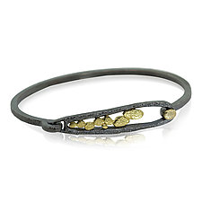 Elongated Pond Bracelet by Rona Fisher (Gold & Silver Bracelet)
