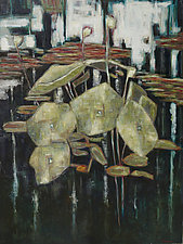 Connected Lilies by Jan Fordyce (Oil Painting)