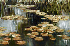 Lilies in Bloom by Jan Fordyce (Oil Painting)