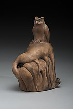 Great Horned Owl by Marceil DeLacy (Wood Sculpture)