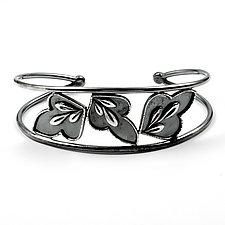 Tumbling Leaf Cuff by Vickie  Hallmark (Silver Bracelet)
