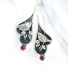 Ruby Wren Earrings by Vickie  Hallmark (Silver & Stone Earrings)