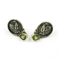 Peridot Sprig Studs by Vickie  Hallmark (Jewelry Earrings)