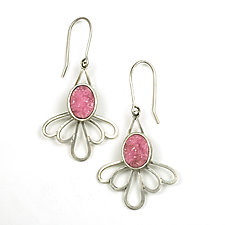 Pink Daisy Earrings by Vickie  Hallmark (Silver & Stone Earrings)