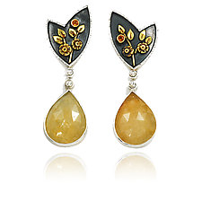 Sunshine and Shadow Earrings by Vickie  Hallmark (Silver & Stone Earrings)