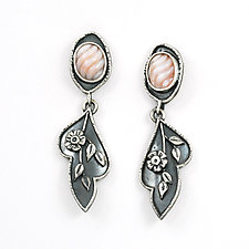 Pearl Blossom Earrings by Vickie  Hallmark (Silver & Mother of Pearl Earrings)