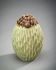 Indian Head Vessel by Valerie Seaberg (Ceramic Vessel)