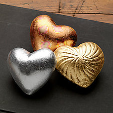 Collection of Heart in Hand Rattles by Valerie Seaberg (Ceramic Sculpture)