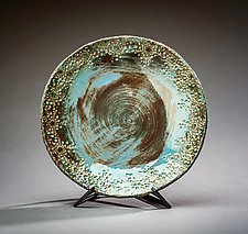 Blue Ocean Bowl by Valerie Seaberg (Ceramic Bowl)