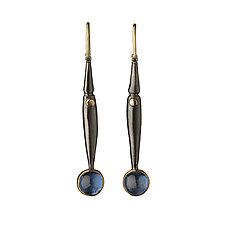 M-Pods in Blue by Alison Antelman (Gold, Silver & Stone Earrings)
