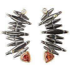 Grand Staircase Earrings by Alison Antelman (Gold, Silver & Stone Earrings)
