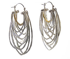 Silver Cicada Earrings by Leia Zumbro (Gold & Silver Earrings)