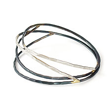 Ecliptic Bangle by Leia Zumbro (Gold & Silver Bracelet)