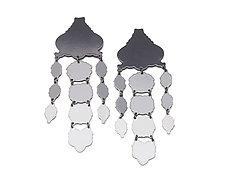 Ombre Chandelier Earrings by Ashley Buchanan (Brass Earrings)