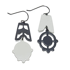 Asymmetrical Silhouette Earrings by Ashley Buchanan (Brass Earrings)