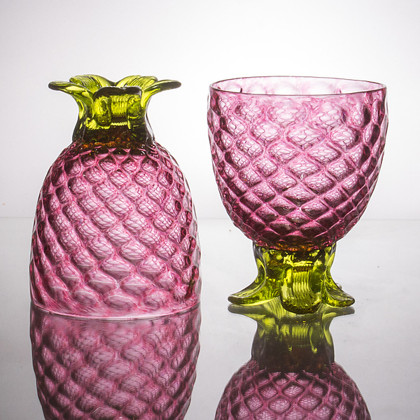 Pair of Small Pineapple Glasses