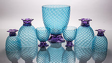 Pineapple Party Set by Andrew Iannazzi (Art Glass Drinkware)