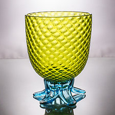 Large Pineapple Bowl by Andrew Iannazzi (Art Glass Drinkware)