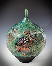 Copper Swirl Vase by Tom Neugebauer (Ceramic Vase)