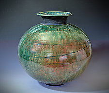Orbit Raku Vase by Tom Neugebauer (Ceramic Vase)
