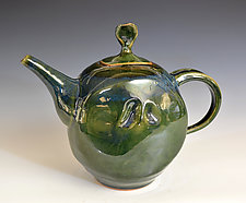 Stoneware Dimpled Teapot by Tom Neugebauer (Ceramic Teapot)