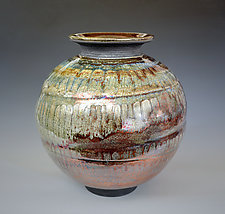 Copper Rain - Raku Vase by Tom Neugebauer (Ceramic Vase)