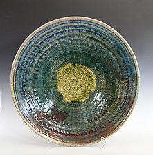 Cosmos - Large Raku Bowl by Tom Neugebauer (Ceramic Bowl)