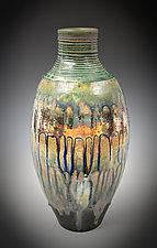 Blue Rain Luster Vase by Tom Neugebauer (Ceramic Vase)