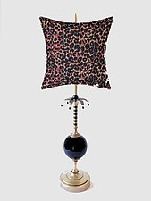 Exotica by Mollie Woods (Mixed-Media Table Lamp)