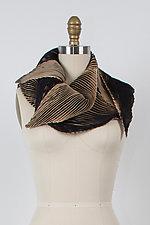 Zigzag Shibori Scarf by Min Chiu  and Sharon Wang  (Silk Scarf)