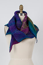 Zigzag Shibori Scarf by Min Chiu  and Sharon Wang  (Silk Scarf)