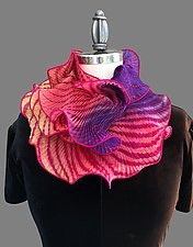 Infinity Scarf in Pink by Min Chiu  and Sharon Wang (Silk Scarf)