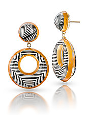 Opulent Illusions Drop Earrings by Jennifer Merchant (Gold & Acrylic Earrings)