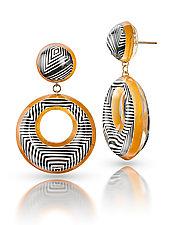 Opulent Illusions Drop Earrings by Jennifer Merchant (Gold & Acrylic Earrings)