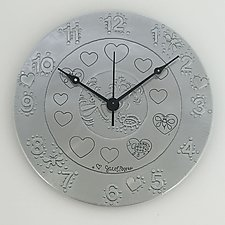 A Heart for Nature Metal Wall Clock by Evy Rogers (Metal Clock)