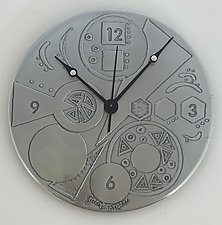 Geometric Time by Evy Rogers (Metal Clocks)