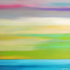 Color in the Sky XII by Mary Johnston (Oil Painting)