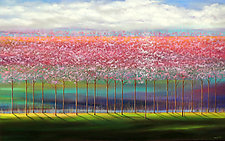 Cherry Trees in Spring by Mary Johnston (Oil Painting)
