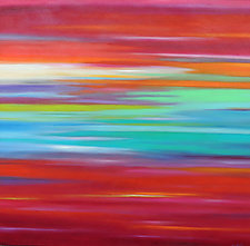 Striations #7 by Mary Johnston (Oil Painting)