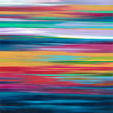 Striations #8 by Mary Johnston (Oil Painting)