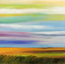 Grassland II by Mary Johnston (Oil Painting)